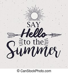 verão, desenho, tempo