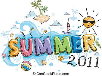 verão, doodle