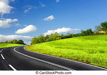 verão, estrada