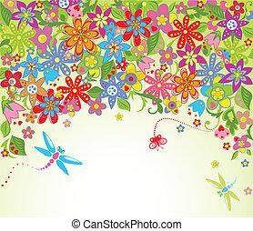verão, flor