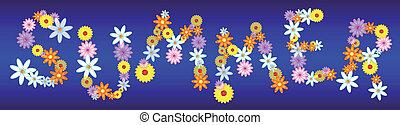 verão, flores, lustroso