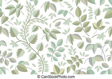 verão, folhas, branches., verde