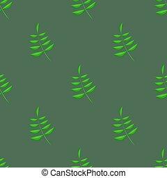 verão, folhas, verde