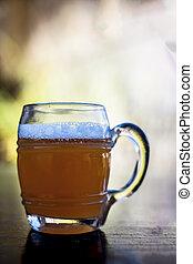 verão, i.e., madeira, bebida, cima, gengibre, cerveja, superfície, popular, fim