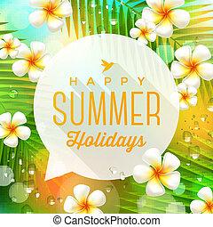 verão, ilustração, feriados