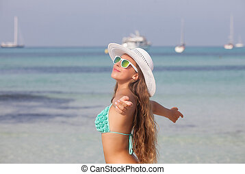 verão, liberdade, feriado, em, mallorca, espanha