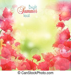 verão, luminoso, fundo