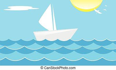 verão, mar