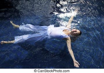 verão, nade
