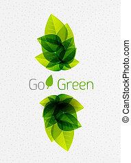 verão, natureza, primavera, folhas, /, experiência verde