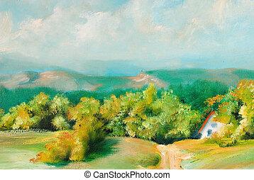 verão, paisagens