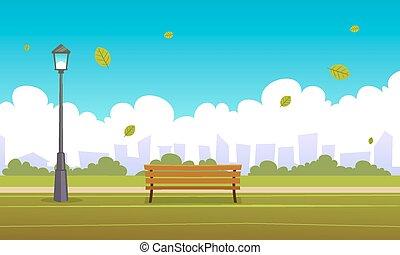 verão, parque cidade