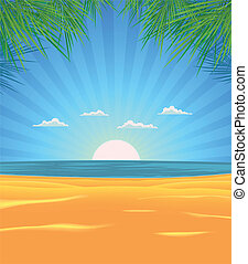 verão, praia, paisagem