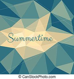 verão, projeto abstrato