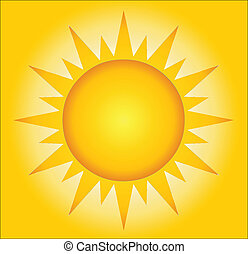verão, quentes, fundo, sol