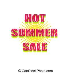 verão, quentes, venda