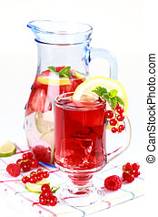 verão, refrescar, chá gelo