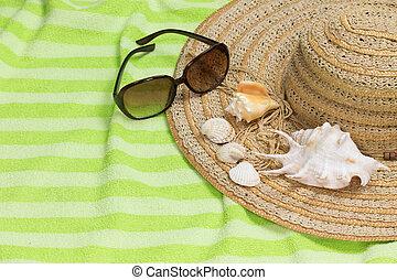 verão, relaxante, conceito