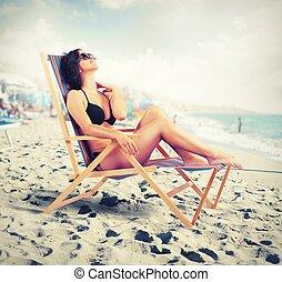 verão, relaxe
