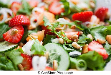 verão, salada