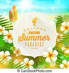 verão, saudação, feriados