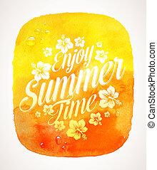 verão, saudação, tempo