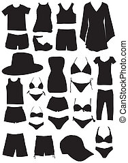 verão, silhuetas, moda, roupas