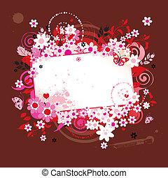 verão, sonhos, cartão cumprimento