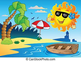 verão, tema, imagem, 4