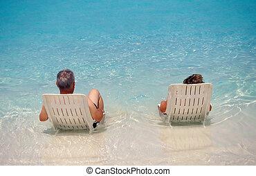 verão, vacation.