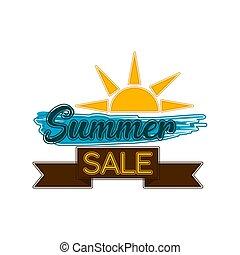 verão, venda, etiqueta