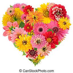 verões, flores, coração