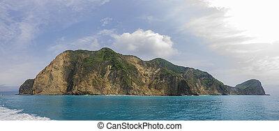 ver, guishan, vista, excursionismo, isla