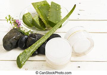 vera, higiênico, cosmético, herbário, aloe