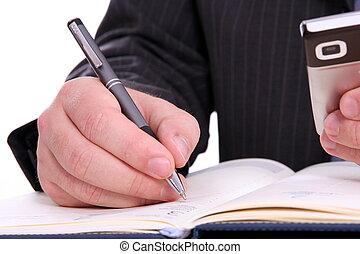 verabredung, kalender, businessman'