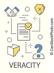 Veracity concept illustration. Idea of big data.