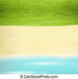 verano, agua, plano de fondo