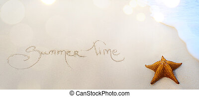 verano, arte, plano de fondo, tiempo