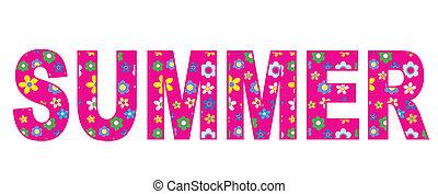 verano, bandera, encabezamiento