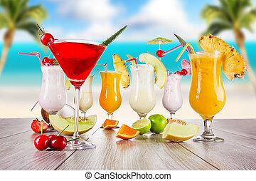 verano, bebidas