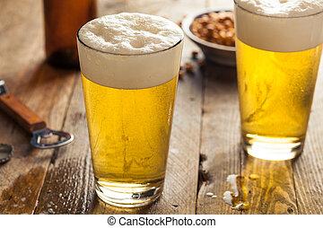 verano, cerveza, refrescante, pinta