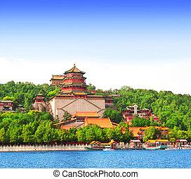 verano, china, palacio, beijing