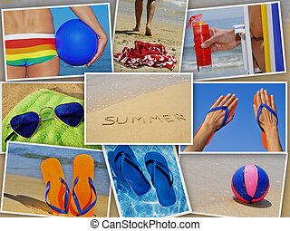 verano, collage