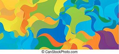 verano, colorido, banner., polygonal, fondo., brasileño
