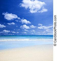 verano, en la playa