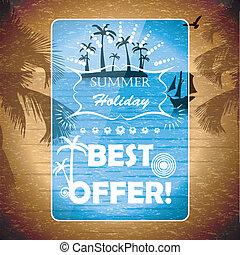 verano, folleto, plano de fondo