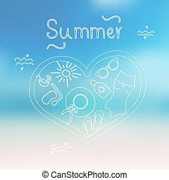 verano, fondo.