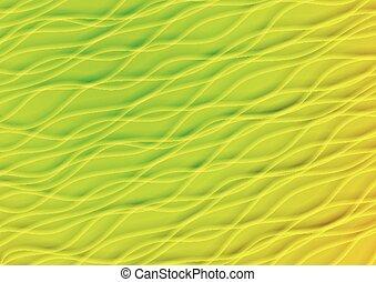 verano, fondo verde, amarillo, ondas