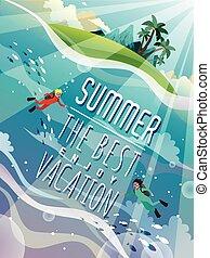 verano, impresionante, cartel