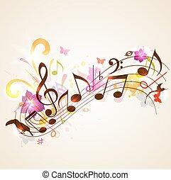 verano, música, plano de fondo
